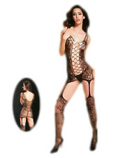 Sexy-Erotik-Bodys & Catsuits Netz Catsuit Spitze Overall Body Damen Dessous 8942