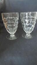 """Cambridge Glass Co #4000. """"Cascade"""" (2) Footed tumbler - 12 oz."""