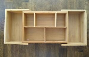 """Extendable Bamboo Drawer Organizer 9.5"""" to 16"""""""