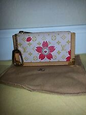AUTH LOUIS VUITTON PINK CHERRY BLOSSOM COIN PURSE EXCELLENT CONDITION