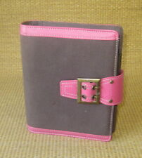 Compact 1 Rings Pinkbrown Fabric Amp Sim Leather Franklin Covey Plannerbinder