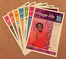 LONDON 2012 - GENUINE VILLAGE LIFE NEWSPAPERS PARALYMPIC GAMES 7 ISSUES *RARE