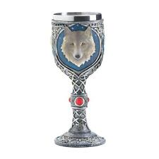 Gothic Gifts WOLF Celtic Magic Wine Chalice Goblet Game of Thrones Room Decor