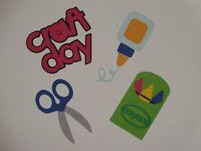 Craft Day glue scissors crayon scrapbook die cuts