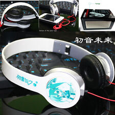 Anime Hatsune Miku Stereo Headband Headphone MP3 Phone PC Earphone & Microphone