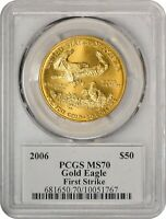 "2006 $50 One-Ounce Gold American Eagle First Strike PCGS MS-70 ""Mercanti Signed"""