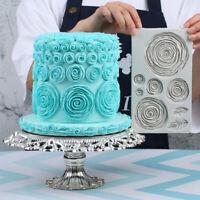 Large Rose Flower Fondant Cake Silicone Mold Big Molds Wedding Decoration Tools