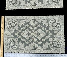 "Antique French Alencon lace place mate 23"" x 14"""
