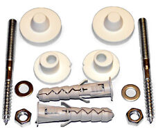 Wall Mounted Basin Fixing Kit 100mm Screws Plug Washer Bathroom Sink Fitting