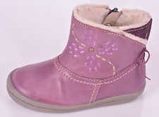 NOEL Infant Girls Mini opus Fig Leather Zip Boots UK 5.5 UE 22 US 6 RRP £ 49.00