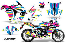 AMR Racing Graphic Kit Wrap Part Honda CBR250R Street Bike CBR 250R 10-13 FLSHBK