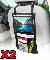 2 X Car Seat Organiser Head Rest Mount for iPad Tablet TV Kids Holiday Protector