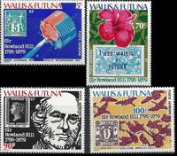 PP480 - WALLIS ET FUTUNA 1979 SIR ROWLAND HILL FLOWER SPACE JAPAN C90-3 MNH