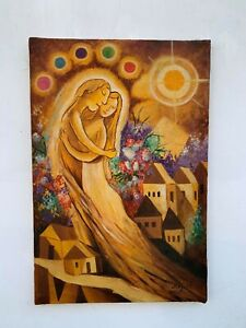 excellent painting,oil on old canvas,masterpiece of old painter,signed CHAGALL
