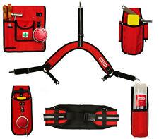Werkzeuggürtel mit Trägern und 4 Holster für Forstarbeit