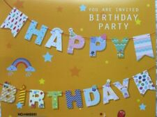 Party : Cute Happy Birthday Letter Banner Party Decor