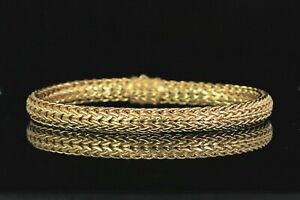 $9,900 John Hardy 18K Solid Yellow Gold 6.5mm Classic Chain 7.5'' Bracelet Large
