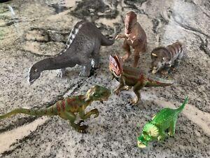 Lot of 6 Schleich Hard Dinosaur Figure Toys Mint (E8)