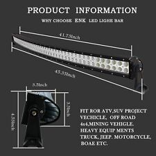 40 inch CURVED LED LIGHT BAR FLOOD SPOT COMBO OFF ROAD TRUCK JEEP SUV UTE ATV 42