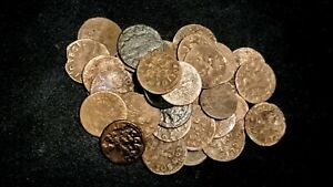 Poland Solidus Szelag 1600s Coin lot, better grades (10 pcs / order) uncleaned