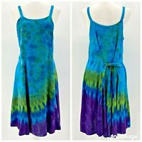Dharma Trading Co. Multicolor Tie Dye Sleeveless Dress Womens Small
