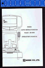 auto refractometer service manual