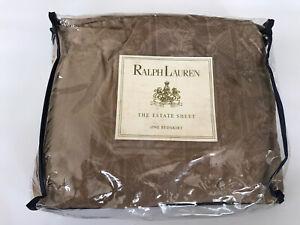 RALPH LAUREN NWT Vintage Estate Fairchild Barkwood Full Dust Ruffle Brown Tan