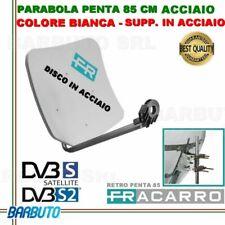 PARABOLA 85 CM IN ACCIAIO PENTA FRACARRO BIANCA SUPPORTO POSTER. ACCIAIO 211205