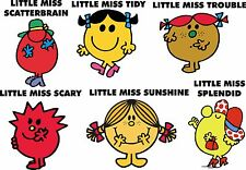 LITTLE MISS MR MEN CHARACTER SET OF 6 Childrens Bedroom 30cm Wall Stickers B