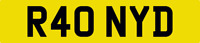 RONNY D NUMBER PLATE RON RONS RONNIE RONNI RONALD R40 NYD CAR REG WITH FEES PAID