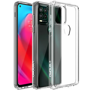 For Motorola Moto G Stylus 5G 2021 Clear Case Slim Crystal Cover,Tempered Glass