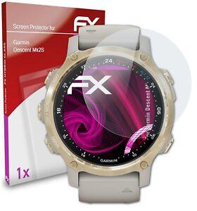 atFoliX Glass Protector for Garmin Descent Mk2S 9H Hybrid-Glass
