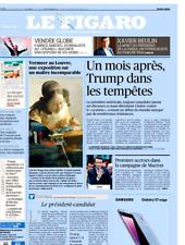 Le Figaro 20.2.2017 N°22560*XAVIER BEULIN*TRUMP tempête*VERMEER au LOUVRE*MACRON