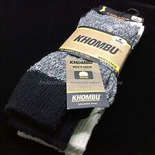 Khombu Breathable Cotton Sock Men's Crew Size 10-13 2 Pairs