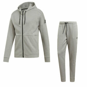 Adidas Men's ID Stadium Full Tracksuit Set Fleece Hoody Bottoms Sportswear Pants