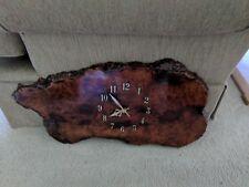 Vintage Natural Wood Slab Myrtlewood Wall Clock Oregon