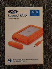 BRAND NEW LaCie Rugged Raid Thunderbolt  USB 3.0 4TB HD