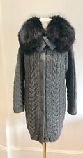 Prada Cashmere Long Sweater With Racoon Collar IT38