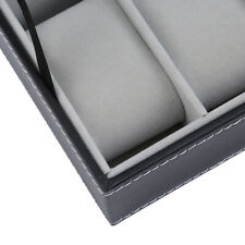 Jewelry Display Box Display Container Qp 6 Slots Pu Leather Watch Storage Cases