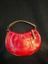 Kathy Van Zeeland Small Red Leather Wristlet