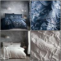 Jacquard Modern Duvet Cover Oak Tree Floral Bird Tree Quilt Cover Set Bedding