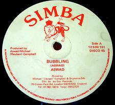 """Aswad Bubbling 12"""" UK ORIG 1985 Reggae Simba b/w Dubbling (Dub Version) VINYL"""