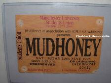 Mudhoney Concert Ticket Stub 1995 Manchester U.K. Green River Seattle Mega Rare