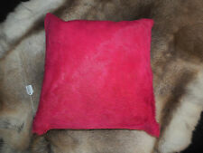 BRIGHTEN YOUR LIVING SPACE FOR SUMMER - A VIBRANT HOT PINK COWHIDE CUSHION COVER