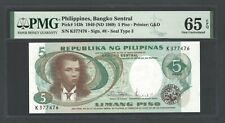 Philippines 5 Piso 1949(ND 1969)  P143b Uncirculated Grade 65