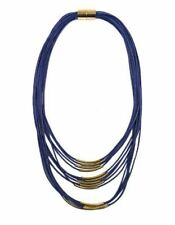 Ladies Multi Layered Magnetic-lock Nylon Brass Necklace