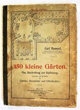150 Kleine Garten Small Gardens layout diagrams German 1906 Horticulture design