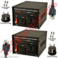 200 Watt 110v 220v Transformer Voltage Converter 110 220 volt AC200W - 2PACK