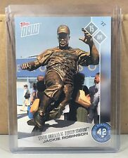 2017 TOPPS NOW #48 JACKIE ROBINSON BROOKLYN DODGERS STADIUM STATUE UNVEILED 461