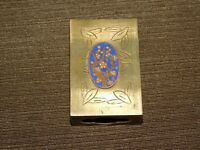 "VINTAGE CIGARETTE TOBACCO 2 1/4"" X 1 1/2"" X 3/4"" BRASS CHINESE MATCHBOX HOLDER"